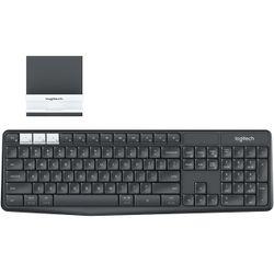 Logitech K375s toetsenbord RF-draadloos + Bluetooth AZERTY Belgisch Grafiet, Wit