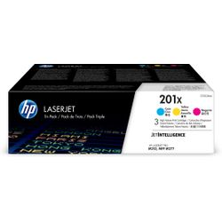HP 201X originele high-capacity cyaan/magenta/gele LaserJet tonercartridges, 3-pack