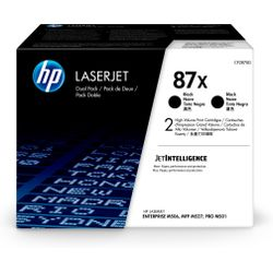 HP 87X originele high-capacity zwarte LaserJet tonercartridges, 2-pack