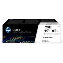 HP 201X originele high-capacity zwarte LaserJet tonercartridges, 2-pack