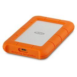 LaCie Rugged USB-C externe harde schijf 4000 GB Oranje, Zilver