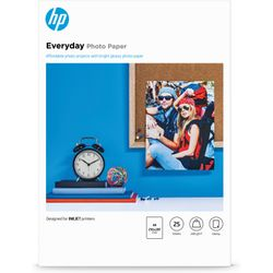 HP Everyday glanzend fotopapier, 25 vel, A4/210 x 297 mm pak fotopapier