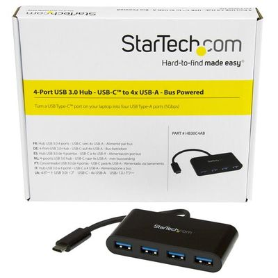 StarTech.com 4 poorts USB 3.0 hub USB-C naar 4x USB-A met busvoeding
