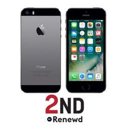 Apple iPhone 5S Single SIM 4G 16GB Zwart, Grijs (Als nieuw)
