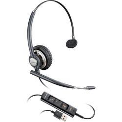 Plantronics Encorepro HW715 Headset Hoofdband Zwart, Zilver
