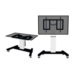 Newstar PLASMA-M2500TSILVER flat panel vloer standaard Portable flat panel floor stand Zilver 2,54 m (100