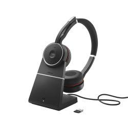 Jabra Evolve 75 MS Stereo Stereofonisch Hoofdband Zwart
