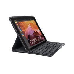 Logitech Slim Folio toetsenbord voor mobiel apparaat QWERTY Brits Engels Zwart Bluetooth