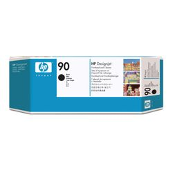 HP 90 zwarte DesignJet en printkopreiniger printkop