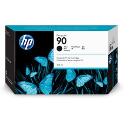 HP 90 zwarte DesignJet inktcartridge, 400 ml