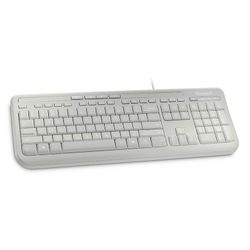 Microsoft Wired Keyboard 600 toetsenbord USB Alfanumeriek Engels Wit