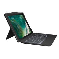 Logitech Slim Combo Smart Connector Zwitsers Zwart toetsenbord voor mobiel apparaat
