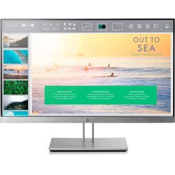"HP EliteDisplay E233 23"" Full HD LED Flat Zwart, Zilver computer monitor"
