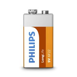 Philips LongLife Batterij 6F22L1B/10