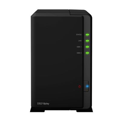 Synology DiskStation DS218play Ethernet LAN Compact Zwart