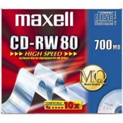 Maxell CD-RW 700MB 80Min 1-10x HighSpeed JC 10pk 700MB