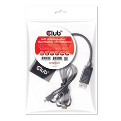 CLUB3D Multi Stream Transport Hub DisplayPort 1.2 Dual