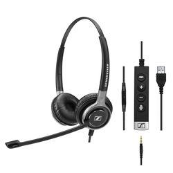 Sennheiser SC 665 USB Stereofonisch Hoofdband Zwart, Grijs