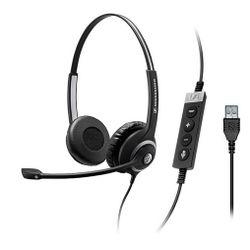 Sennheiser SC 260 USB CTRL II Stereofonisch Hoofdband Zwart
