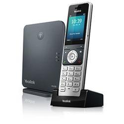Yealink W60P IP telefoon Zwart, Zilver Draadloze handset TFT