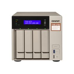 QNAP TVS-473E Ethernet LAN Toren Grijs NAS