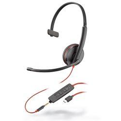 Plantronics Blackwire 3215 Headset Hoofdband Zwart