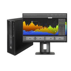 HP DWS BUNDEL Z240 SFF 4Core i7-7700, Z24nf monitor (1WV00ET+1JS07AT) 3.4GHz i7-6700 SFF Zwart Workstation