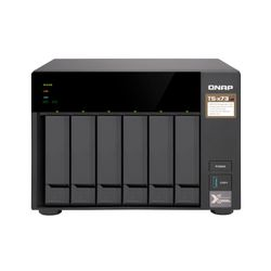 QNAP TS-673 Ethernet LAN Toren Zwart NAS