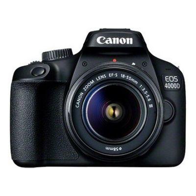 Canon EOS 4000D SLR camerakit 18 MP 5184 x 3456 Pixels Zwart