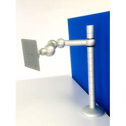 R-Go Tools E-Motion Monitorarm, verstelbaar, zilver