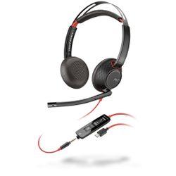 Plantronics Blackwire 5220 Headset Hoofdband Zwart, Rood