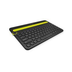 Logitech K480 Bluetooth QWERTY Brits Engels Zwart, Geel toetsenbord voor mobiel apparaat