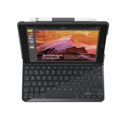 Logitech Slim Folio toetsenbord voor mobiel apparaat Zwart QWERTY UK International Bluetooth