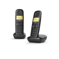 Gigaset A270 Duo DECT-telefoon Nummerherkenning Zwart