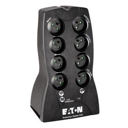 Eaton Protection Station 650 FR 650VA 8AC outlet(s) Mini Toren Zwart UPS