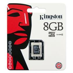 Kingston Technology 8GB microSDHC, MicroSDHC, Zwart, -25 - 85 °C, -40 - 85 °C, 11 x 15 x 1 mm