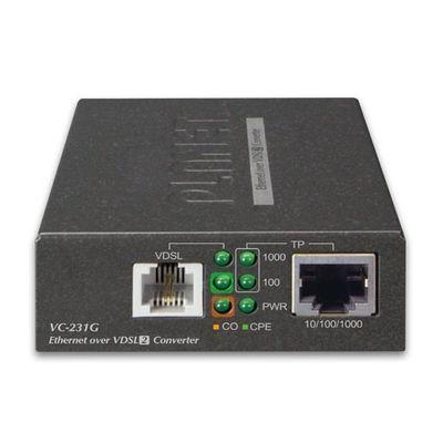 Planet VC-231G netwerk media converter 1000 Mbit/s Zwart