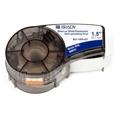 Brady M21-1500-427 printeretiket Doorschijnend, Wit