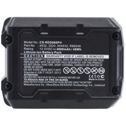 MicroBattery MBXPT-BA0001 industrieel oplaadbare batterij/accu Lithium-Ion (Li-Ion) 4000 mAh 12 V