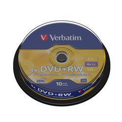 Verbatim DVD+RW Matt Silver 4.7GB DVD+RW 10stuk(s)