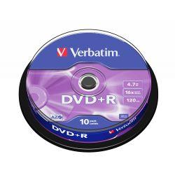 Verbatim DVD+R Matt Silver 4,7 GB 10 stuk(s)