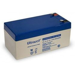MicroBattery 40.8Wh Lead Acid Battery 12V 3.4Ah UL3.4-12 Connection, type Faston (4.8mm)