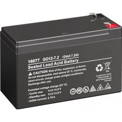 MicroBattery 86.4Wh Lead Acid Battery 12V 7.2Ah GO12-7.2 Connection, type Faston (4.8mm)