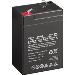 MicroBattery 24Wh Lead Acid Battery 6V 4Ah GO6-4 Connection, type Faston (4.8mm)