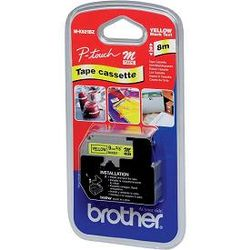 Brother M-K621B labelprinter-tape Zwart op geel
