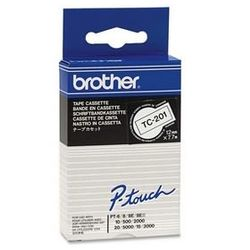 Brother TC-201 Zwart op wit TC labelprinter-tape