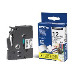 Brother TX-231 Zwart op wit TX labelprinter-tape