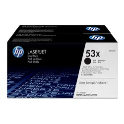 HP 53X originele high-capacity zwarte LaserJet tonercartridge, 2-pack