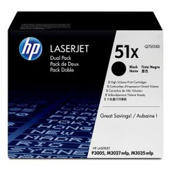 HP 51X originele high-capacity zwarte LaserJet tonercartridge, 2-pack