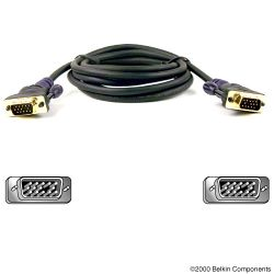 Belkin Gold Series VGA Monitor Signal Replacement Cable 3m 3m Zwart VGA kabel-F2N028B10-GLD